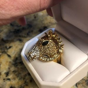 Swavorski Jewell Horse Head Ring